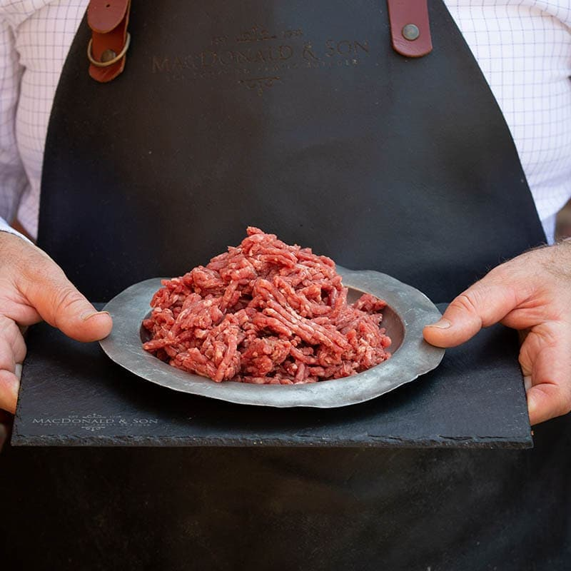 Steak Mince available to buy at Macdonald & Sons Butchers in Dundee, Scotland