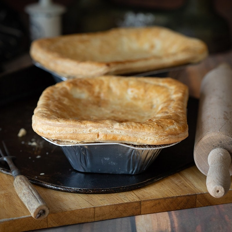 Large Scottish Steak Pie available to buy at Macdonald & Sons Butchers in Dundee, Scotland