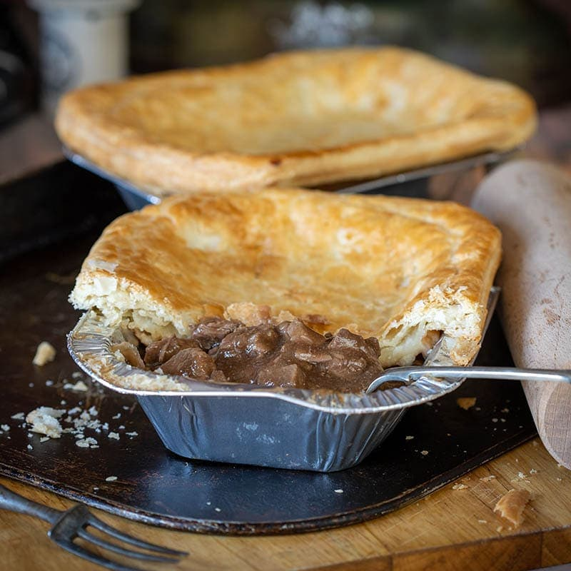 Scottish Steak Pie available to buy at Macdonald & Sons Butchers in Dundee, Scotland