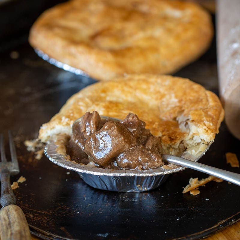 Small Steak Pie available to buy at Macdonald & Sons Butchers in Dundee, Scotland