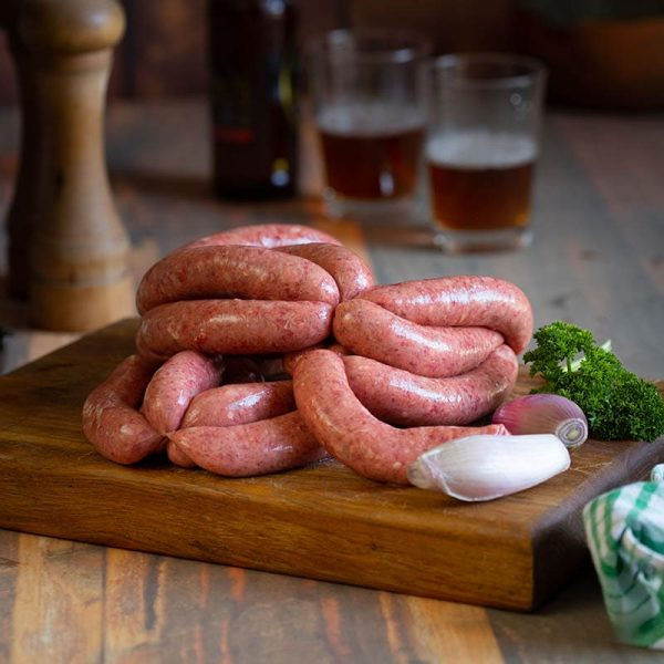 Steak Onion Sausage available to buy at Macdonald & Sons Butchers in Dundee, Scotland