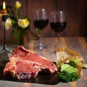Scottish T-bone steak available to buy at Macdonald & Sons Butchers in Dundee