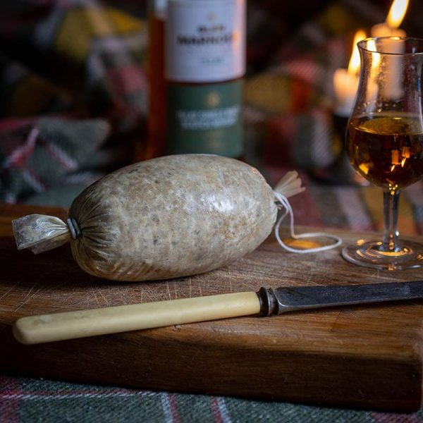 Traditional Scottish Haggis available to buy at Macdonald & Sons Butchers in Dundee, Scotland